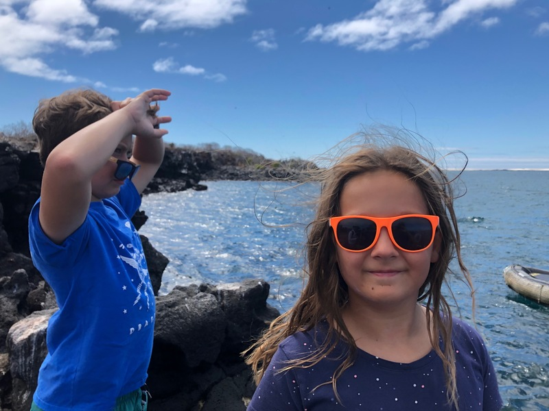 Children on North Seymour Island